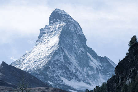 The Matterhorn is the Mountain of Mountains. Shaped like a jagged tooth, the main watershed and border between Switzerland and Italy.
