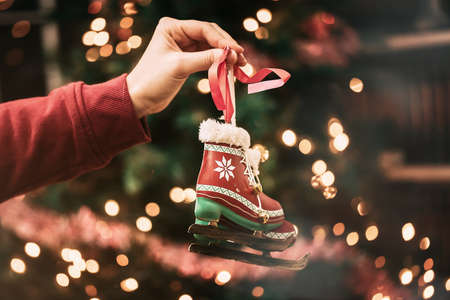 roller skate christmas tree decor 版權商用圖片