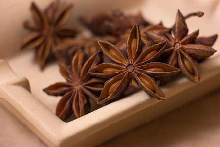 Anise stars Stock Photo