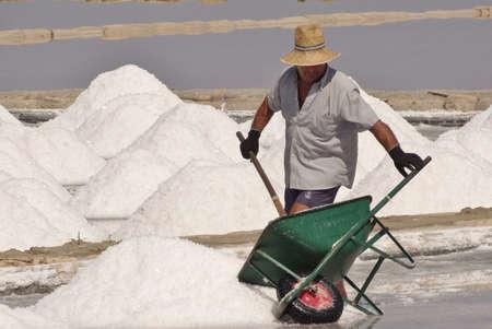 work in salt flat