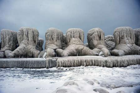 non urban: A very beautiful scenery with the frozen Black Sea