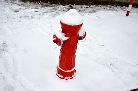 fire hydrant: Fire hydrant in a winter day