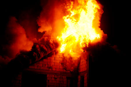 arson: House under construction caught fire by night