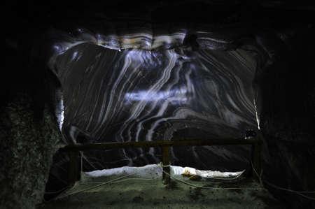 turda: Interior of a salt mine in Romania