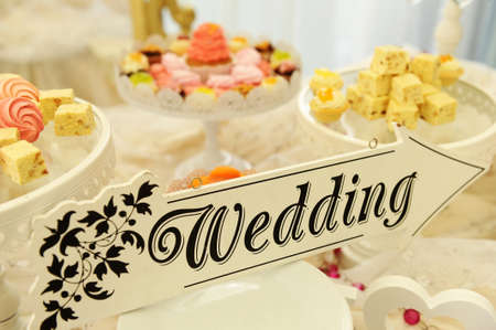 wedding cake: Wedding candy bar Stock Photo