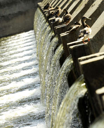 waste water: Waste water treatment plant Stock Photo