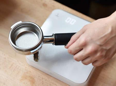 espresso machine: Portafilter of an espresso machine