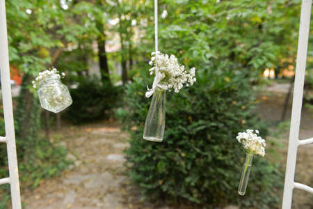 Hanging decorations for an outdoor party