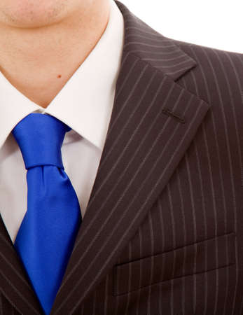 closeup businessman suit and tie photo