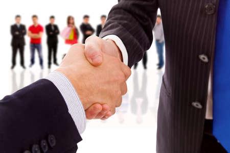 handshake of business partner after the deal