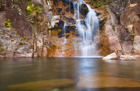 be wet: Deep forest Waterfall in Geres national park, north of Portugal.