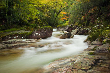 Autumn river at Geres National Park, north of Portugal