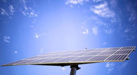 Solar panel against blue sky 免版税图像