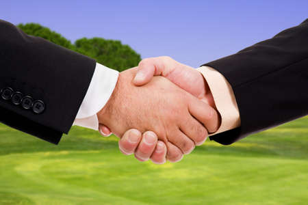 Global warming handshake