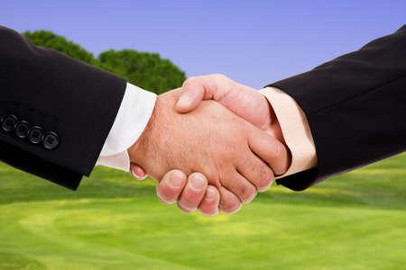concur: Global warming handshake