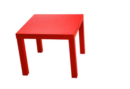 modern red table isolated on white background