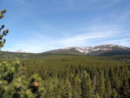 Distant Mountain Landscape