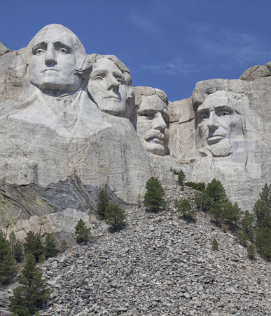 Mount Rushmore National Monument.  South Dakota.