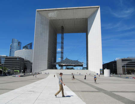 Modern triumphal arch, Paris, La Defense