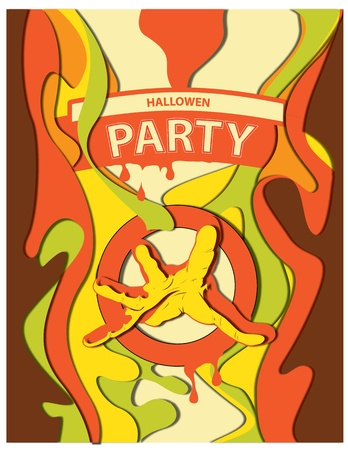 Poster for a party on Halloween Vector
