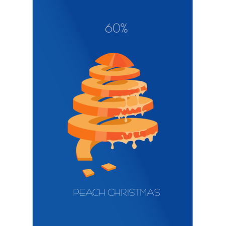 meats: cristmas poster with fruits and vegetables