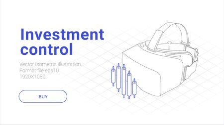Isometric investment illustraion Vektorgrafik