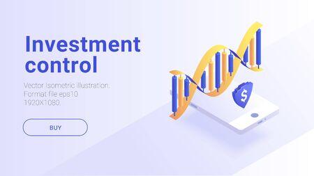 Isometric investment illustraion