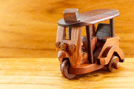 tuk: Tuk Tuk wood toy Stock Photo
