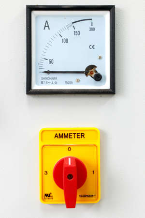 selector: Ampere meter with selector Stock Photo