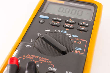 impedance: Closeup Digital Multimeter Stock Photo