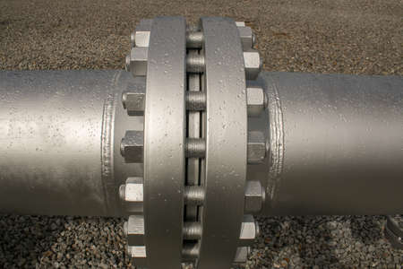 flanges: Joint of two flanges by bolts and nuts