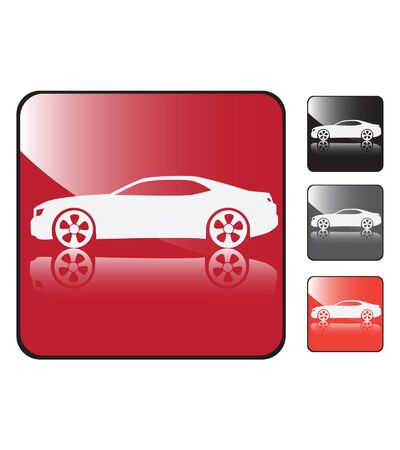 coupe: sports car coupe vector button Illustration