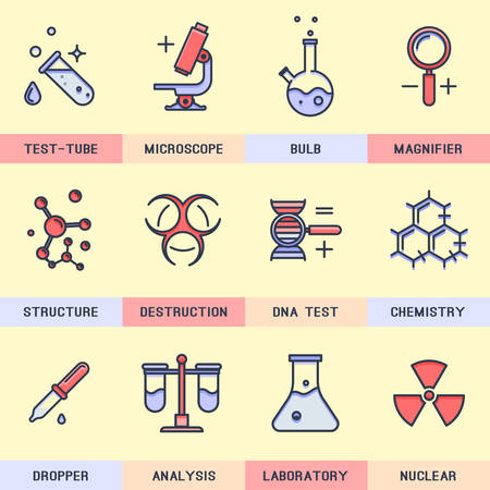 cognizance: Science icons.