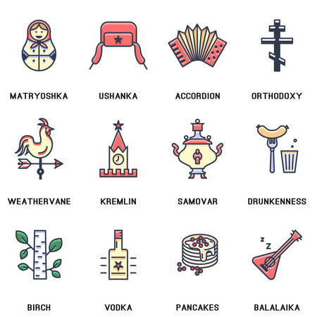 russia: Russia icons.