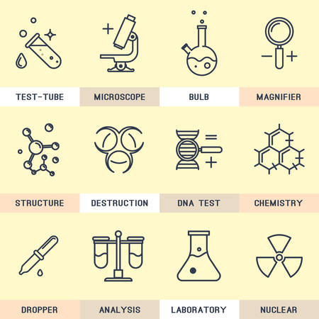 chemical hazard: Science icons.