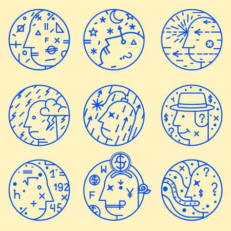bionics: Set of abstract icons