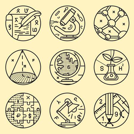 Ensemble de icône ronde