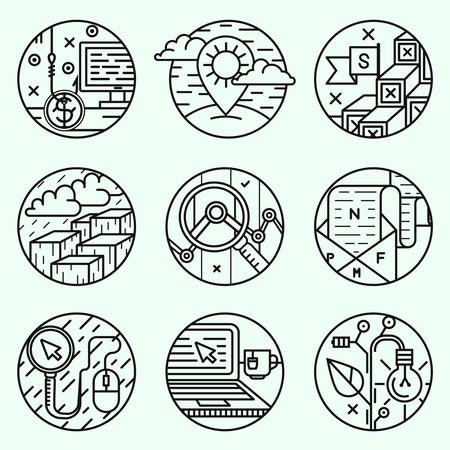 unreliable: The round dial, creative icons Illustration