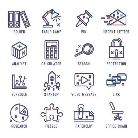 web survey: Conjunto de iconos vectoriales. Oficina, puesta en marcha, internet, tela, investigaciones de la encuesta, el an�lisis, la protecci�n, carpetas, corespondence, la escritura, la optimizaci�n de motores de b�squeda, mensaje de v�deo.