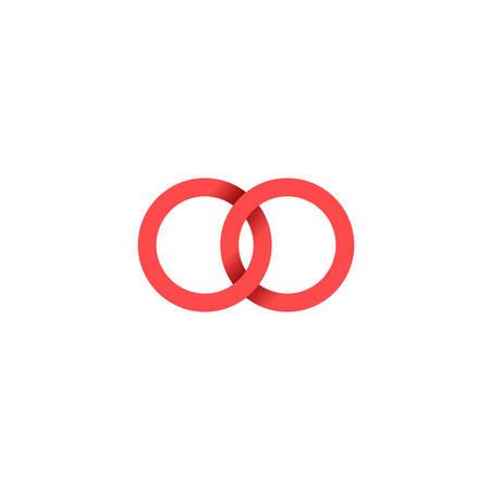 Nietypowe logo wektora w nowoczesnym stylu.