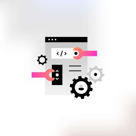 flat icon on the site settings. 版權商用圖片
