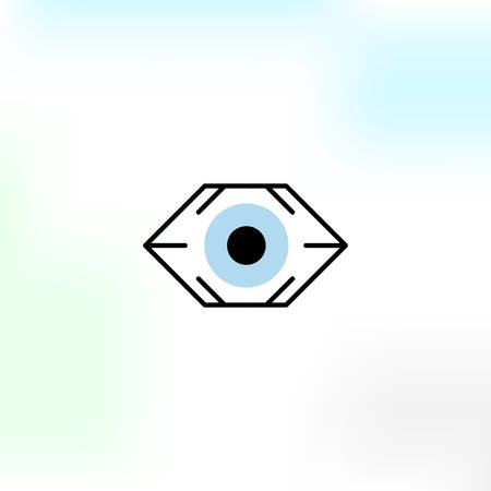 Creative vision vector logo in a modern style.  イラスト・ベクター素材