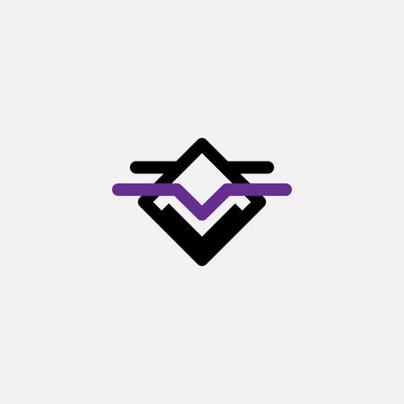 Simple vector logo in a modern style.