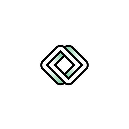 Impossible logo carré carré infinie en style plat. Banque d'images - 75264247