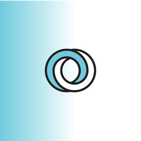 Impossible circle vector logo in flat style.  イラスト・ベクター素材