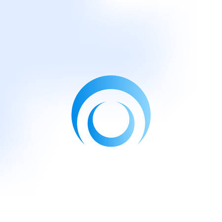 The letter O vector logo in a modern style.