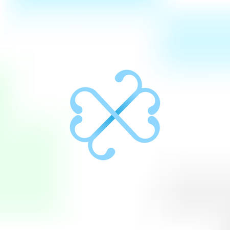 Simplel vector logo in a modern style.  イラスト・ベクター素材