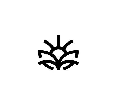 Agronomy vector logo in a modern linear style.  イラスト・ベクター素材