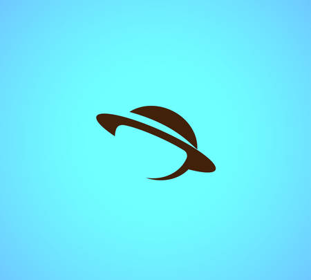 globe logo: Planet Saturn vector logo in a modern style.