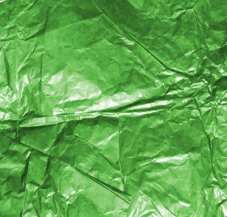 Papel amassado verde Banco de Imagens